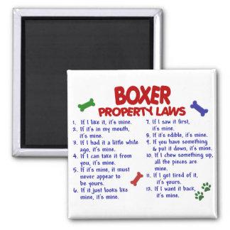 Leyes 2 de la propiedad del boxeador imanes de nevera