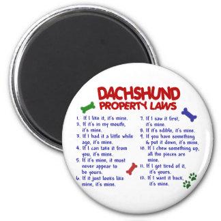 Leyes 2 de la propiedad del Dachshund Imán Redondo 5 Cm