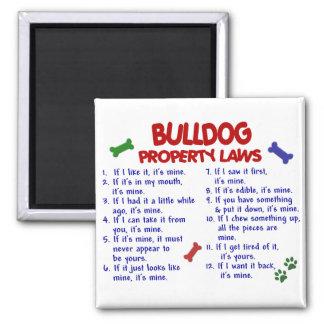 Leyes 2 de la propiedad del dogo imán cuadrado