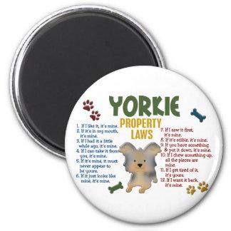 Leyes 4 de la propiedad de Yorkie Imán Redondo 5 Cm