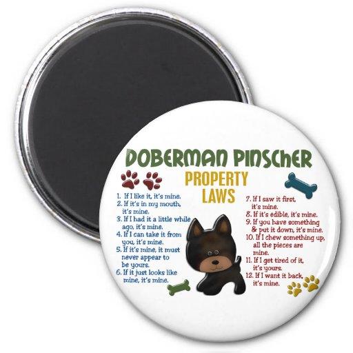 Leyes 4 de la propiedad del Pinscher del Doberman Imán