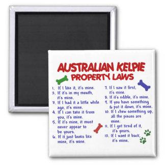 Leyes AUSTRALIANAS 2 de la propiedad del KELPIE Imán Cuadrado