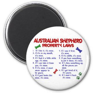 Leyes AUSTRALIANAS 2 de la propiedad del PASTOR Imán Redondo 5 Cm