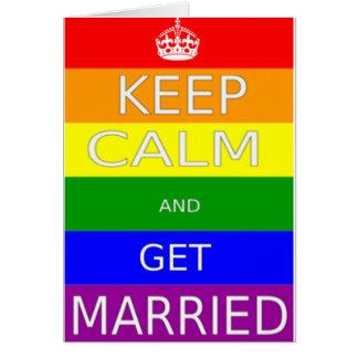 LGBT - El matrimonio homosexual mantiene tranquilo Tarjeta De Felicitación