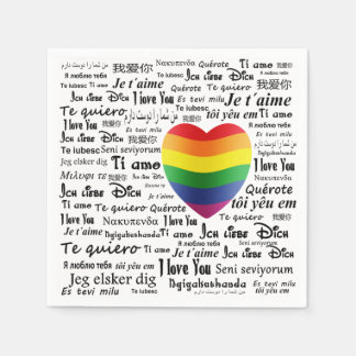 LGBT te amo Servilleta Desechable