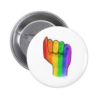 LGBTQ+ Pin del botón del orgullo