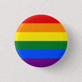 LGBTQA+ Botón de la bandera del arco iris