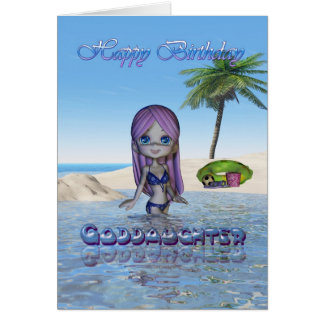 Li de la playa de la colección de la empanada de tarjeta de felicitación