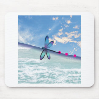 libélula-mar-cielo alfombrilla de ratón