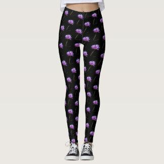 Libélula púrpura de Lotus Waterlily Leggings