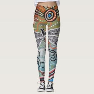 Libélula que soña las polainas leggings