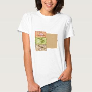 Libélula y hoja camiseta