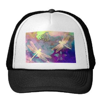 Libélulas de la pintura gorras de camionero