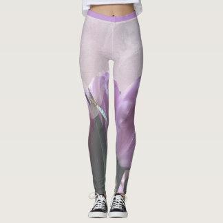 Libélulas púrpuras 2 de la aguamarina de los leggings