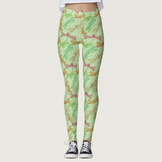 Libélulas verdes leggings