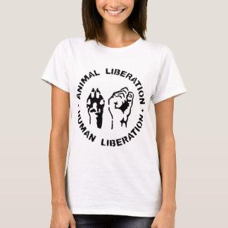 Liberación animal - liberación humana camiseta