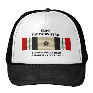 Liberación de la estrella de la campaña de Iraq Gorras