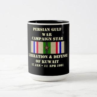 Liberación y defensa de la campaña de Kuwait Taza Dos Tonos