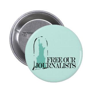 Libere a nuestros periodistas chapa redonda 5 cm