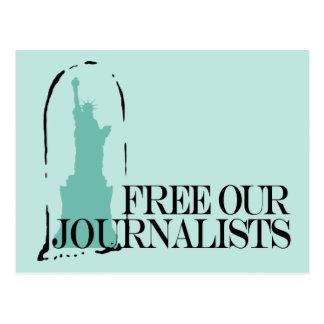 Libere a nuestros periodistas postal