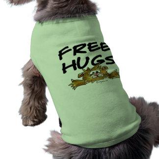 Libere la camiseta del perro del hámster del dibuj camisa de perro
