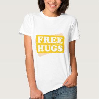 Libere los abrazos - amarillo camisetas