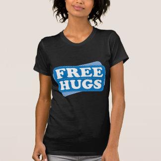 Libere los abrazos - azul camisetas