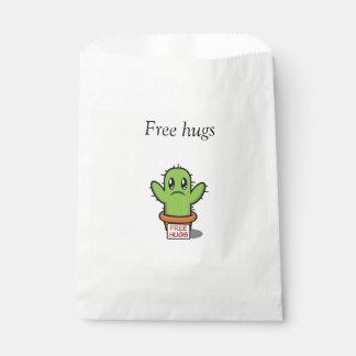 Libere los abrazos bolsa de papel