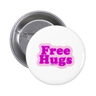 Libere los abrazos chapa redonda de 5 cm
