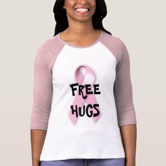 Libere los abrazos para el cáncer de pecho camiseta