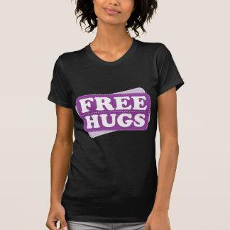Libere los abrazos - púrpura camiseta