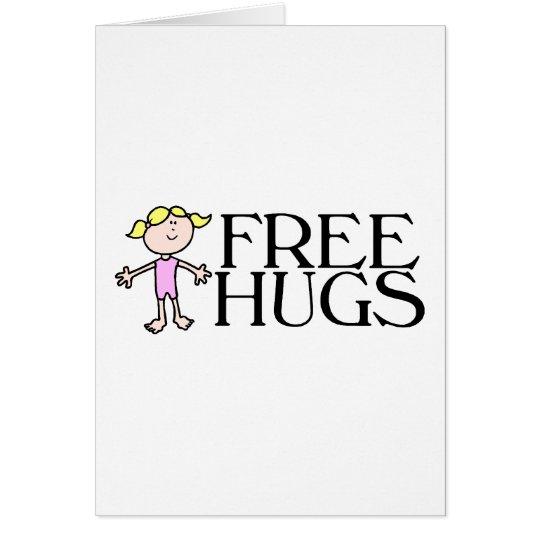 Libere los abrazos tarjeta de felicitación