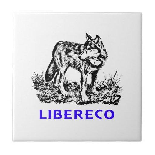 Libereco (Freedom, libertad) - Lupo en naturo Teja Cerámica