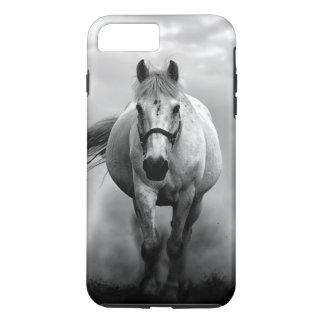 Libertad corriente blanca negra del caballo funda iPhone 7 plus