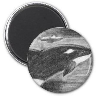 Libertad de la orca imán de frigorifico
