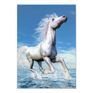 Libertad del caballo blanco - 3D rinden Invitación 8,9 X 12,7 Cm