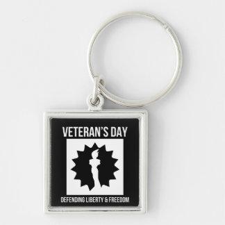 Libertad del día de veteranos y llavero de defensa