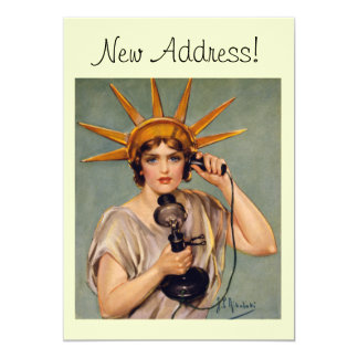 Libertad del vintage que llama la nueva tarjeta invitación 12,7 x 17,8 cm