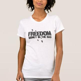 Libertad - dinero en el bolso - dinero que hace la camisetas