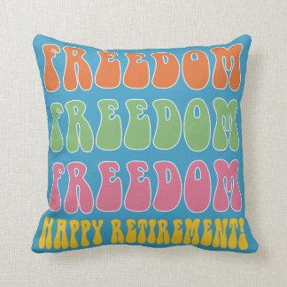 Libertad divertida de la libertad del regalo del cojín decorativo