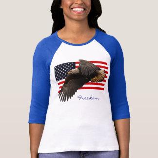LIBERTAD EAGLE CALVO y ropa de las señoras de la Camiseta
