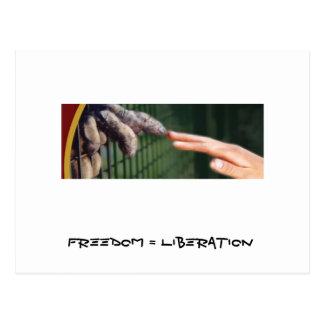 Libertad = liberación tarjeta postal