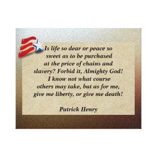 ¿Libertad o muerte Impresión En Lienzo Estirada