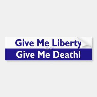 Libertad o pegatina para el parachoques de la muer pegatina para coche