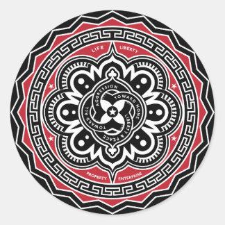 Libertad para todos los pegatinas de las insignias pegatina redonda