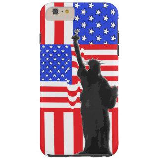 Libertad patriótica de América de la bandera Funda Resistente iPhone 6 Plus