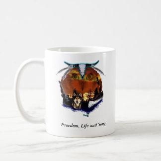 Libertad, vida y canción tazas de café