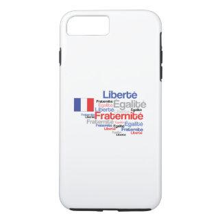 Liberté, Égalité, Fraternité - bandera francesa Funda Para iPhone 8 Plus/7 Plus