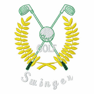 Libertino divertido del logotipo del golf bordado camiseta polo bordada