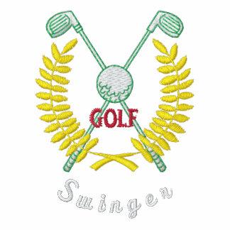 Libertino divertido del logotipo del golf bordado polo